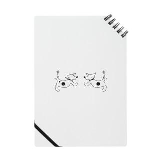 hitofudegaki-DOG×2(雑貨) Notebook