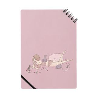 魔法ノート🐱猫と枕 ノート