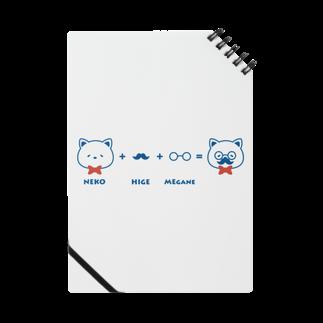 チョッちゃんのネコ+ヒゲ+メガネ ノート