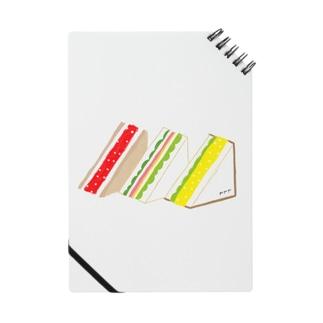 三角サンド3つ ノート