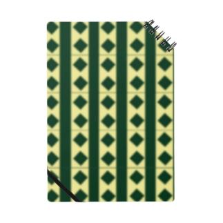 緑×クリームチェック Notes