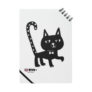 水玉しっぽの黒猫ちゃん ノート