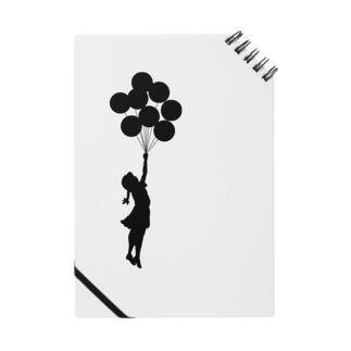 風船で浮く女の子バンクシー(banksy) Notes