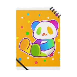【虹色HAPPYレインボー】「にじパンダ」(オレンジ) ノート