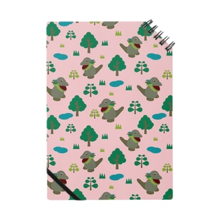 モッコメリアンパターン-ピンク ノート