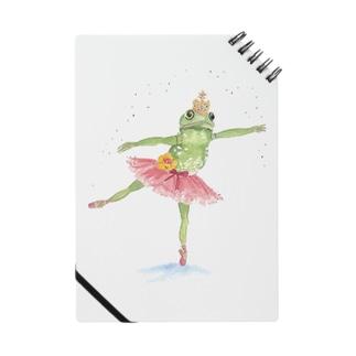 カエルバレリーナのグッズ ノート