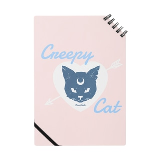 【MOON SIDE】 Creepy Cat #Pink*Blue ノート