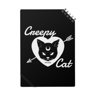 【MOON SIDE】 Creepy Cat #Black Ver.2 ノート