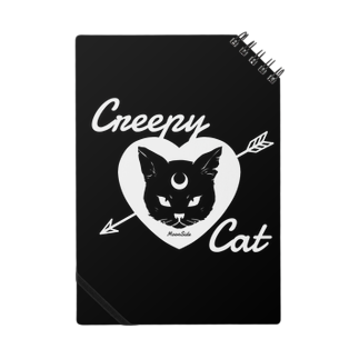 IENITY / MOON SIDEの【MOON SIDE】 Creepy Cat #Black Ver.2ノート