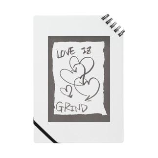 偽諺~壱~「ラヴイズグラインド」(黒縁) Notes