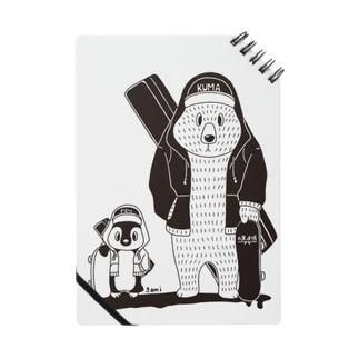 白黒道場-バンド正面(絵柄小) ノート