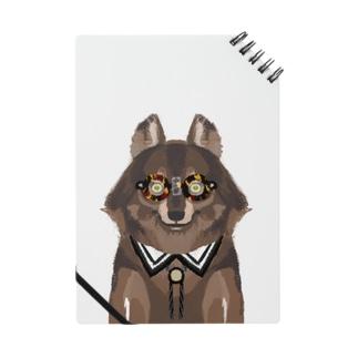 メガネをセロファンテープで貼り付けたオオカミ Notes