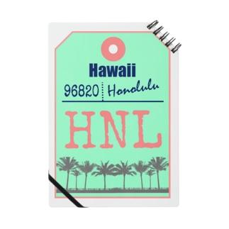ハワイバゲージタグ風(やしの木) Notes