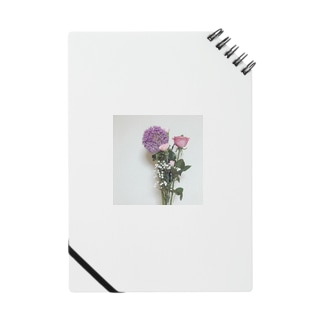 living in flowers-pink Notes