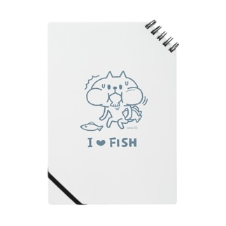 I Love Fish(blue) Notes