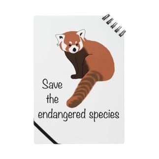 レッサーパンダ 絶滅危惧種を守ろう Notebook