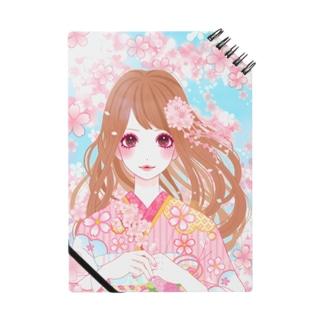 桜と女の子 ノート