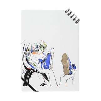 青いスニーカー ノート
