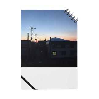 夕空と岩木山 Notes