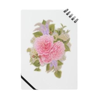 あま~いバラと小花 ノート