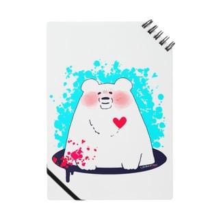熊本支援グッズ【しろくまの負けないハート】 Notes