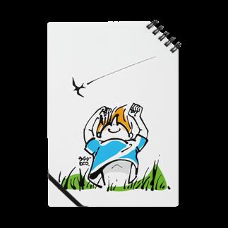 ウチダヒロコ online storeの夏の子ノート
