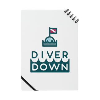 Diver Down公式ショップのDiver Downグッズ ノート