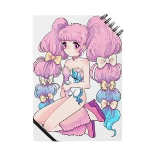 ピンクの少女 ノート