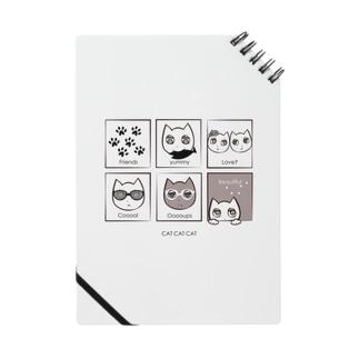 CAT CAT CAT 猫ちゃんのかわいいリングノート ノート