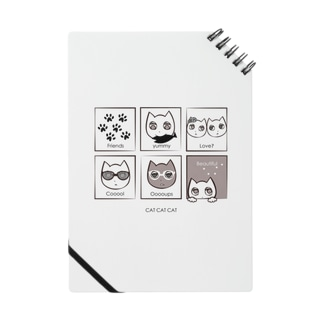 CAT CAT CAT 猫ちゃんのかわいいリングノート Notes