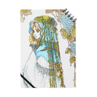 青い衣の少女(ノート) Notes