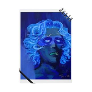 「ひとはみな自分にしか見えない宇宙を通して世界を視ている。そして宇宙が青いのは真実で出来ているから」 Notes