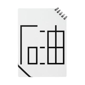 「石油」黒ロゴ(大) Notebook