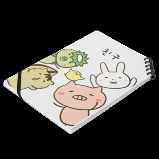 cana@ぶたさんと韓国語のぶたさんwithFRIENDS [친구/友達] Notesの平置き