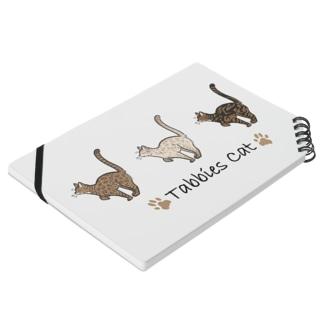 豆つぶのTabbies Cat(ロゼット/ベンガル) Notebookの平置き
