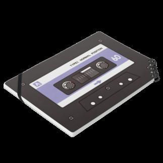 AmberToneのカセットテープ Notesの平置き