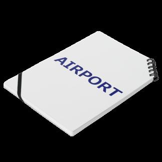 アメリカンベースのエアライングッズ AIRPORT Notesの平置き