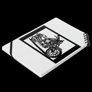 切り紙屋のHARLEY-DAVIDSON スポーツスターXL883R切り絵デザイン Notesの平置き