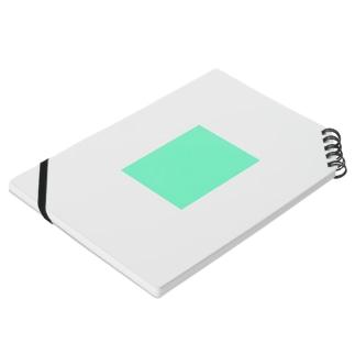 えすぷれっそましーんのエメラルドグリーン 長方形 Notebookの平置き