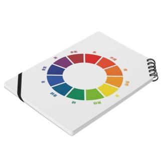 ヘタイラストのマサ屋の色相図 Notesの平置き