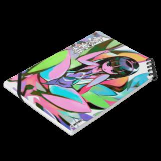 HEDZの巣 SUZURI店の金太郎姫 Notepad A5 ノート