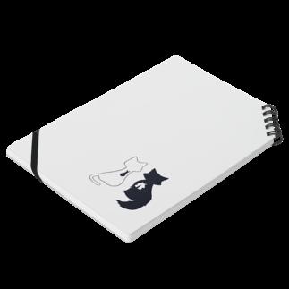 ちまとりーのねこ(白と黒) Notesの平置き