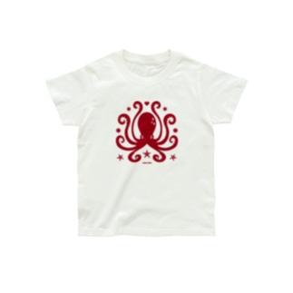 蛸紋章レッド Organic Cotton T-Shirt