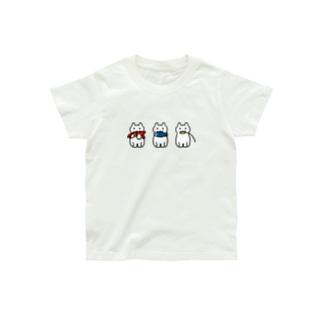 赤青黄色 おもちゃとネコ Organic Cotton T-shirts