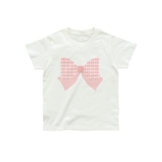 和モダン柄〜釘抜繋ぎ風ストライプリボン〜 Organic Cotton T-shirts