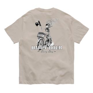 """HAPPY HOUR""(B&W) #2 Organic Cotton T-Shirt"
