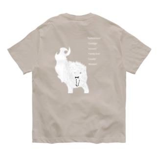 白狼 威嚇 Organic Cotton T-shirts