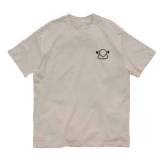 文鳥フェイス Organic Cotton T-shirts