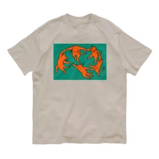 ネコのダンス Organic Cotton T-Shirt