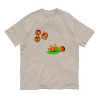 ホオズキ Organic Cotton T-shirts